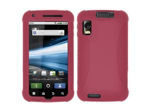 Amzer Silicone Skin Jelly Case for Motorola ATRIX 4G MB860 - Maroon Red