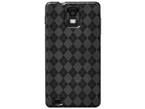 Amzer Luxe Argyle High Gloss TPU Soft Gel Skin Case for Samsung Infuse 4G I997 - Smoke Grey