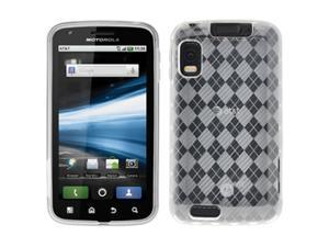 Amzer Luxe Argyle High-Gloss TPU Soft-Gel Skin Case for Motorola ATRIX 4G MB860 (Clear)