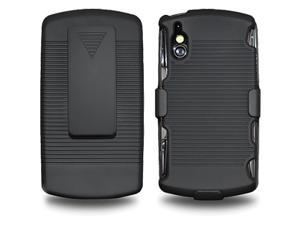 Amzer Shellster Shell Holster Combo Case Cover for Sony Ericsson Xperia Play, Sony Ericsson Xperia Play 4G - Black