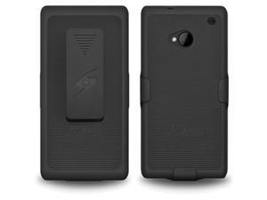 AMZER Shellster Black Case & Holster For HTC One AMZ95495