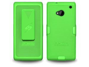 AMZER Shellster Green Case & Holster For HTC One AMZ95499