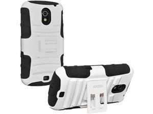 Amzer Hybrid Kickstand Case for Samsung GALAXY Nexus I515, Samsung GALAXY Nexus L700 - White/ Black
