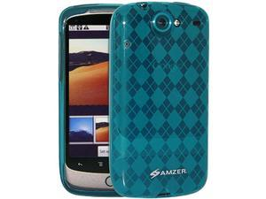 Amzer Luxe Argyle Skin Case for Google Nexus One PB99100/HTC Nexus One - Blue