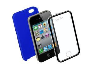 Amzer NuTouch Rubberized Blue Snap-On Crystal Hard Case for iPhone 4 - Blue - Fits AT&T and Verizon iPhone 4