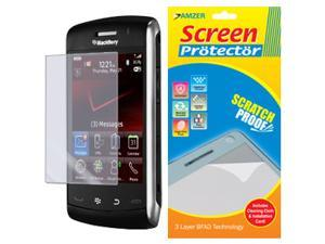 Amzer Super Clear Screen Protector with Cleaning Cloth for BlackBerry 9550 Storm2