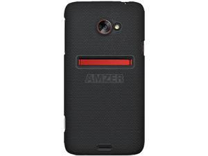 Amzer AMZ94141 Snap on Hard Shell Case Cover for HTC EVO 4G LTE - Skin- Black