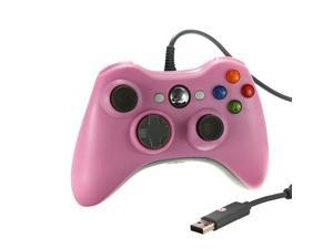 Pink Wired USB Game Pad Controller For Microsoft Xbox 360 & Slim PC Windows 7
