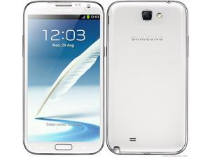 "Samsung Galaxy Note II N7100 White 3G Unlocked Cell Phone w/ 5.5"" Super AMOLED Touch Screen / Bluetooth 4.0"