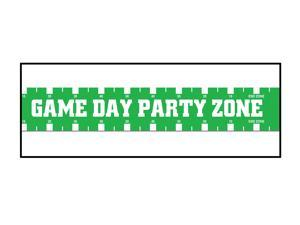 """Beistle Game Day Football Decoration 3"""" x 20 ' Party Tape Green White"""