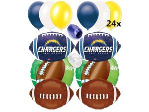 San Diego Chargers NFL Football Balloons Decorating Ultimate 32pc Party Pack