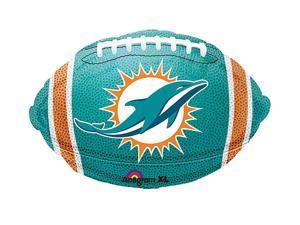 """Anagram NFL Miami Dolphins Football 21"""" Foil Balloon Teal Orange White"""