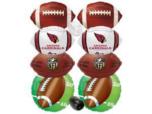 Arizona Cardinals NFL Playoffs Super Bowl Football Mylar Foil Balloons 10pc
