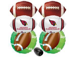 Arizona Cardinals NFL Playoffs Super Bowl Football Mylar Foil Balloons 7pc