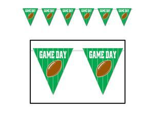 Beistle Beistle Football Game Day Giant Pennant 12' Banner Green Brown White