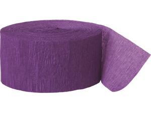 Unique Mardi Gras Themed Party Purple Crepe 81' Streamers, Purple