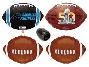 Carolina Panthers Super Bowl 50 NFL Football Decoration Mylar Balloon Pack 5pc