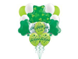Happy St Patrick's Day Get Your Green On Shamrocks Party Decor 16pc Balloons