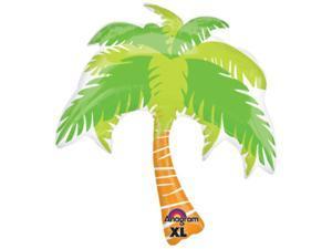 "Anagram Hawaiian Tropical Island Luau Palm Tree SuperShape 33"" Foil Balloon"