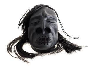 "Loftus Mini Shrunken Head Halloween Decoration 3"" Prop, Black"