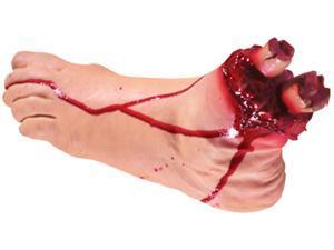 Loftus Creepy Realistic Severed Gory Foot Prop, Beige
