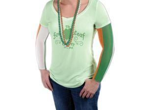 "St Patricks Day Irish Party Sleeves Arm Warmers Orange Green White One Size (18"")"
