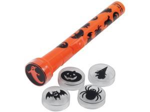 Loftus Spooky 5 Different Lenses Halloween 6pc 6in Flashlight, Orange
