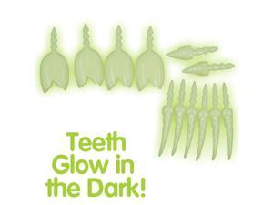 Loftus Glow In The Dark Jack O Lantern Teeth 16pc Pumpkin Carving Kit, Glow