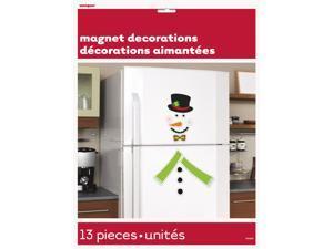 Unique Happy Holidays Snowman Fridge 13pc Magnets