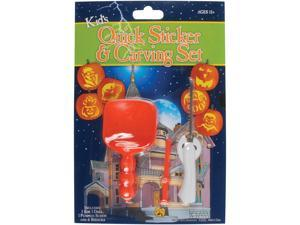 Loftus Kids Pumpkin Quick Sticker & Tools 9pc Pumpkin Carving Kit, Orange