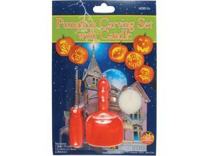 Loftus Orange 9pc Halloween Pumpkin Carving Set With Candle