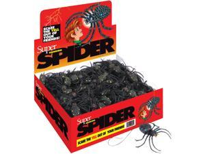 "Loftus Hanging Spiders With Strings 4.5"" Decoration Prop, Black, 130 Pack"