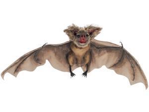 """Loftus Halloween Bat w Furry Ears 35"""" Hanging Prop, Brown"""