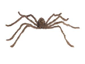 "Star Power Giant Shaggy Furry Spider Halloween 76"" Decoration Prop, Tan Black"