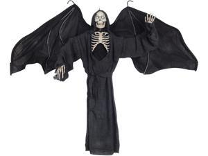 "Loftus Winged Ghost Decoration W Light Up Eyes 47"" Prop, Black"