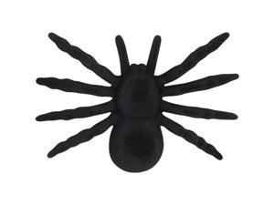 Loftus Scary Lifelike Halloween Furry Spider Decoration Prop, Black, 4 Pack