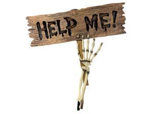 Forum Help Me Skeleton Arm 22 in Yard Sign Brown Off-White