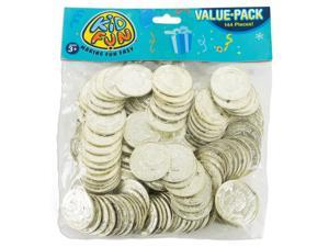 U.S. Toy St Patricks Day Plastic Gold Coins 1.5in Party Favors, Gold, 144 Pack