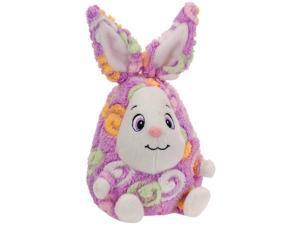 "Fiesta Cute Swirl Egg Easter Bunny 7"" Plush Animal, Purple White"