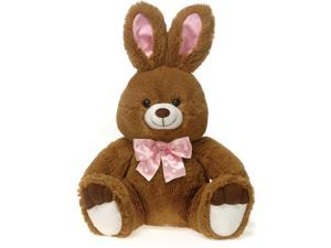 "Fiesta Soft Adorable Sitting Easter Bunny 11"" Plush Animal, Brown White"