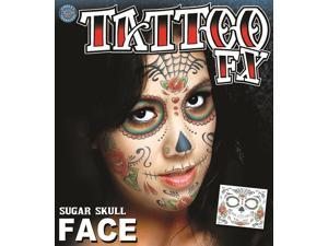 Tinsley Transfers Sugar Skull Temporary Tattoo FX Face Kit 11.75""