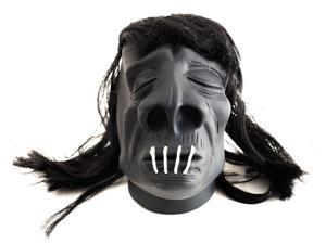 "Loftus Halloween VooDoo Shrunken Head 4.5"" Decoration Prop, Black"