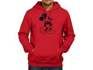 Retro Mickey Mouse Classic Original Disney Unisex Hooded Sweater Fleece Pullover Hoodie