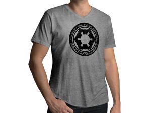 Men's Star Wars Galactic Empire Logo 100% Cotton V-Neck T-Shirt