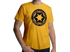 Men's Star Wars Galactic Empire Logo 100% Cotton Crew Neck T-Shirt