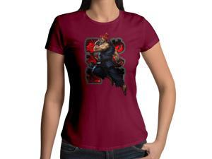 Women's Street Fighter Master of the Fist Gouki Akuma 100% Cotton Crew Neck T-Shirt