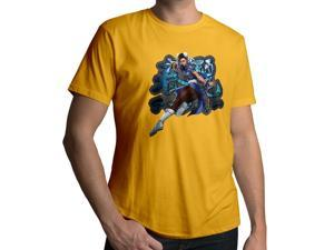 Men's Street Fighter Chun-Li 100% Cotton Crew Neck T-Shirt