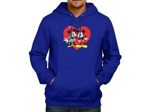 Disney Mickey and Minnie Mouse Unisex Hooded Sweater Fleece Pullover Hoodie