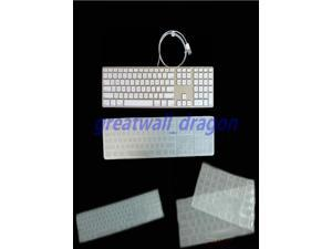 Waterproof dustproof Clear silicone keyboard Cover Skin protector guard for Apple imac G6 Desktop PC US version Wired Keyboard