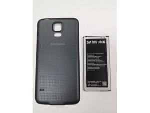 NEW OEM SAMSUNG GALAXY S5 SM-G900 G900R4 G900P G900V G900A G900T i9600 EB-BG900BBU BATTERY + BLACK BATTERY DOOR